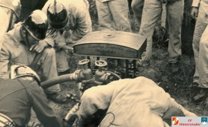 Die erste Motorspritze