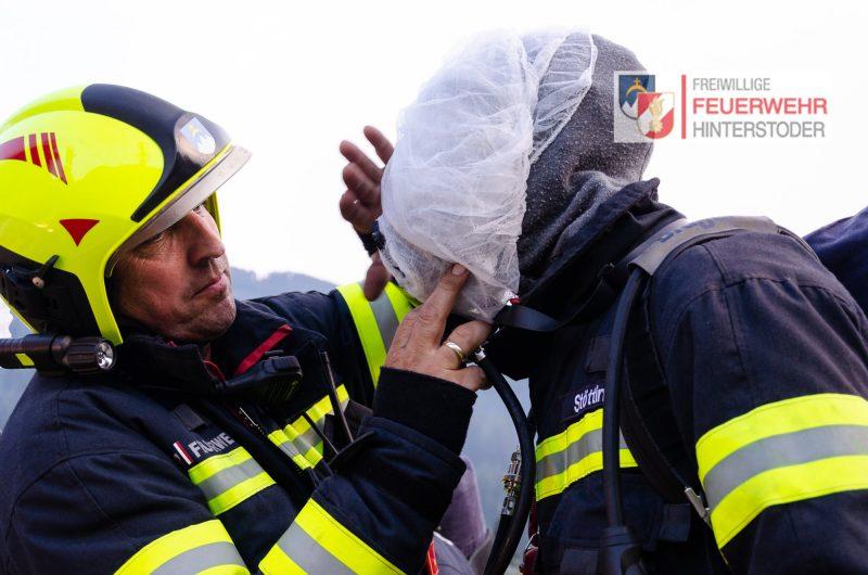 Atemschutzträger mit Netzhauben