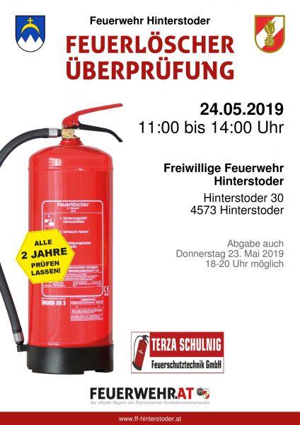 Feuerlöscherüberprüfungsaktion 2019