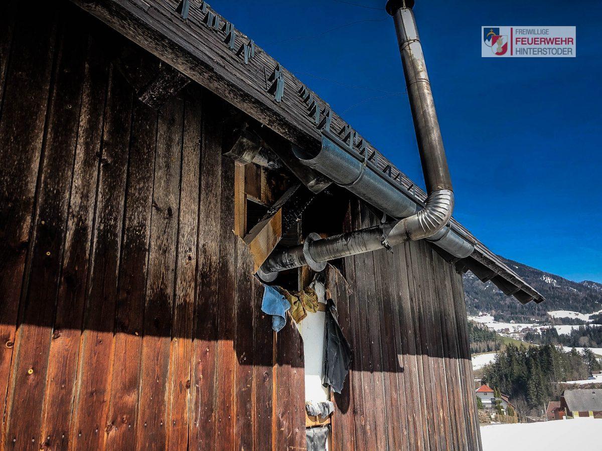 Entstehungsbrand bei einer Gartenhütte in Hinterstoder