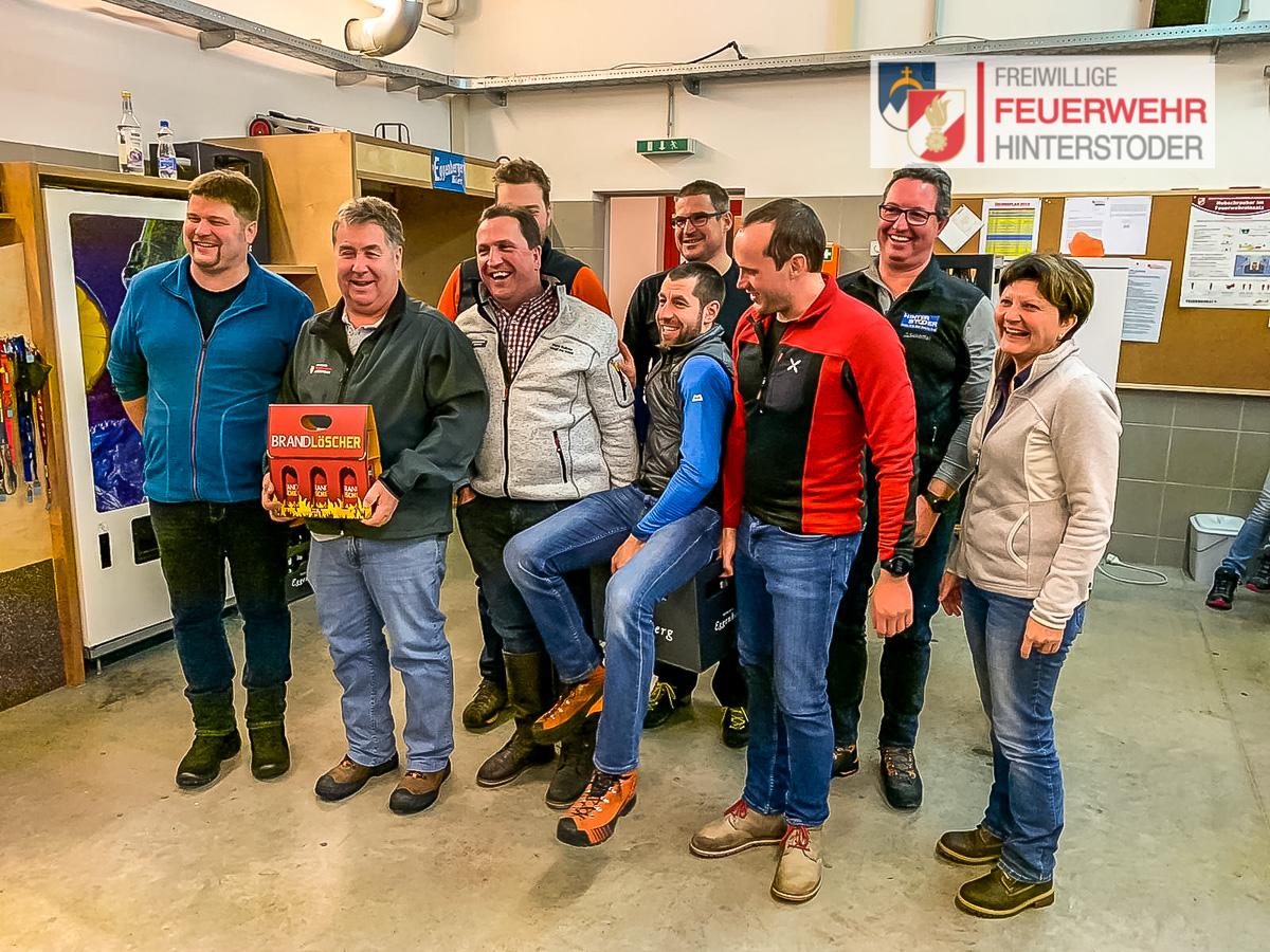 Moarschaft Hinterstoder - Siegerehrung im Feuerwehrhaus Rosenau
